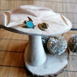 Spilla turchese-oro