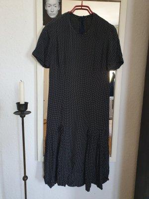 Original Vintage Pünktchen Kleid Midi