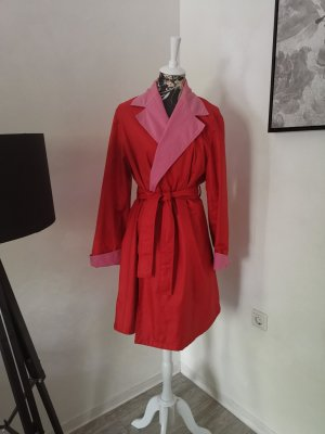 Original Vintage Yves Saint Laurent Mantel Gr 38 S-M rot rosa