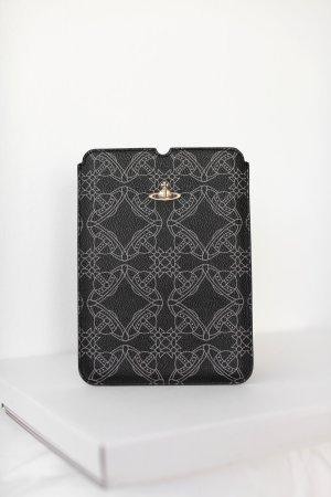 Original Vivienne Westwood iPad Mini Sleeve Cover Leder Schwarz Gold Designer
