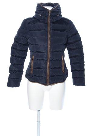 Winterjacke blau Steppmuster Casual-Look