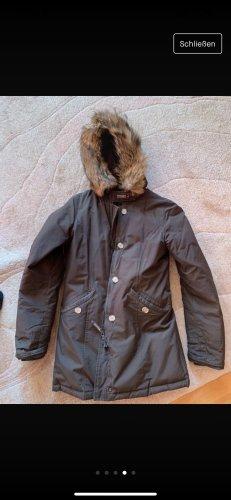 Woolrich Manteau en duvet taupe pelage