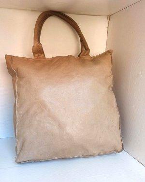 Original Woolrich echt Leder Tasche beige Creme