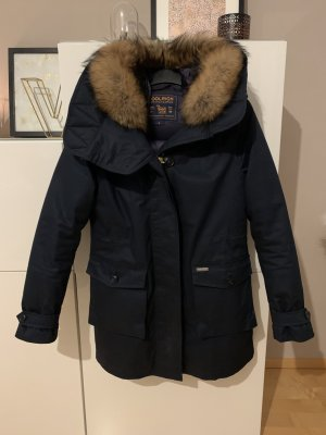 Woolrich Down Coat dark blue-blue cotton