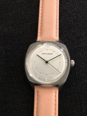 Yves Camani Reloj con pulsera de cuero multicolor