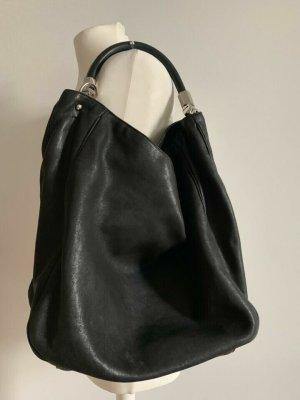 Original Yves Saint Laurent Roady Bag Medium Leder Schwarz