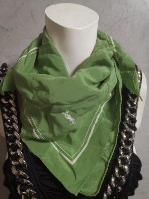 Original Yves Saint Laurent Seidentuch Tuch grün