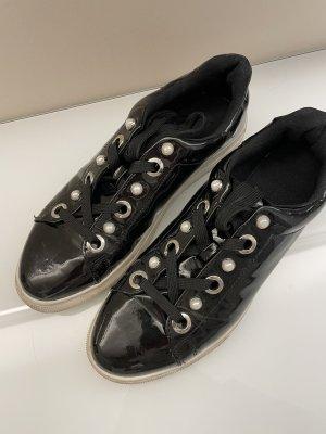 Original Zara Sneaker schwarz mit Perlen 40