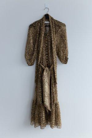 Original Zimmermann Leopard Kleid Espionage XS Size 0 34 braun