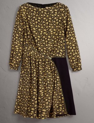 Original Zip Detail Burberry Kleid 100% Seide