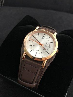 Esprit Zegarek ze skórzanym paskiem Wielokolorowy