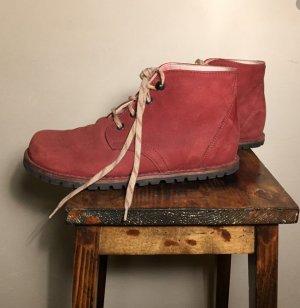 Chukka boot rouge foncé cuir