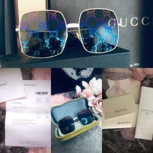 Gucci Angular Shaped Sunglasses multicolored