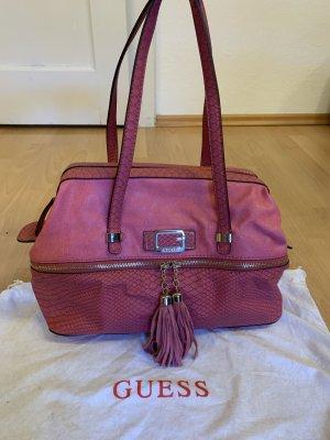 Guess Sac Baril rose-violet cuir