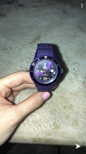 Ice watch Montre analogue violet foncé