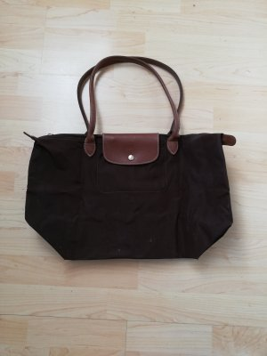 Longchamp Shopper brun foncé