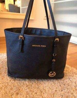 Originale Michael Kors Jet Set Handtasche dunkelblau