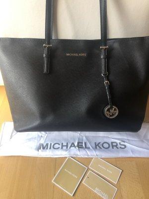Originale, neue Michael Kors Jet Set schwarz Handtasche