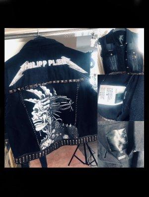 Philipp Plein Denim Jacket black-white