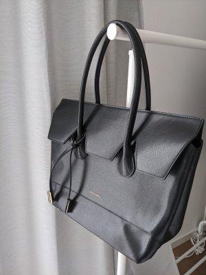 Originale Schwarze Saffiano Leder Handtasche von Coccinelle