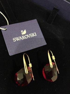 Swarovski Pendientes colgante rojo oscuro