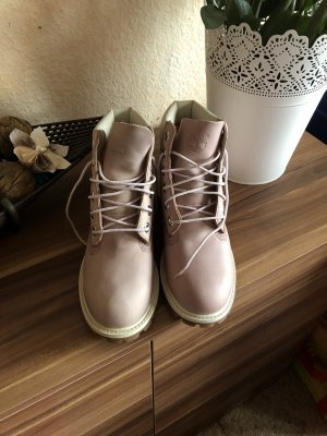 Timberland Snow Boots light pink leather