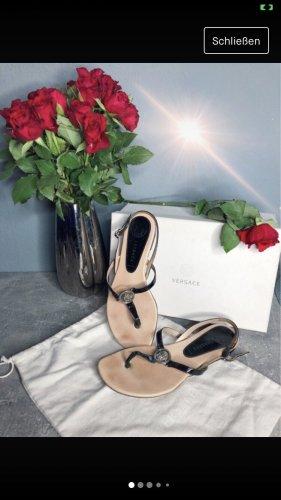 Versace Flip-Flop Sandals black-silver-colored
