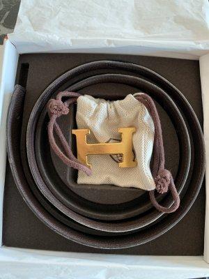 Hermès Ceinture réversible noir-brun
