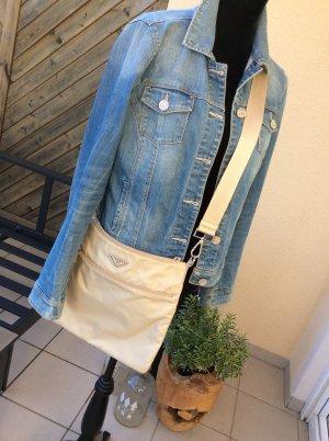 OriginalPrada crossbody Bag / Schultertasche Nylon in cremefarben