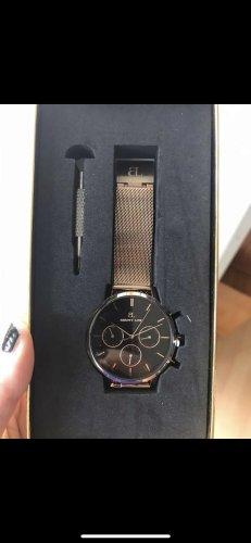 abbott lyon Reloj analógico negro-rosa metal
