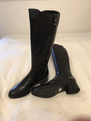 Made in Italy Jackboots black leather
