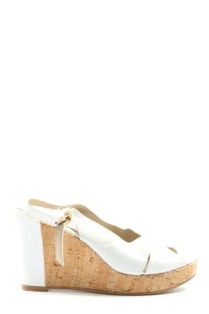 Origini studio Sandały na platformie biały-nude W stylu casual