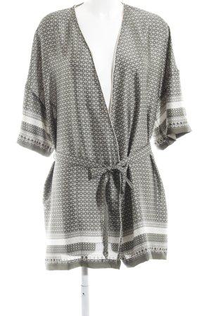 Oroblu Kimono grüngrau-creme abstraktes Muster Casual-Look