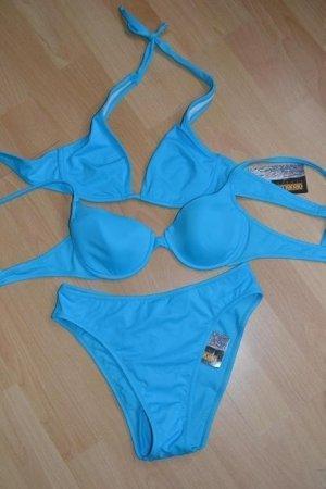 OROBLU mare Designer Bikini Set / Neckholder blau *NEU* Gr. 38