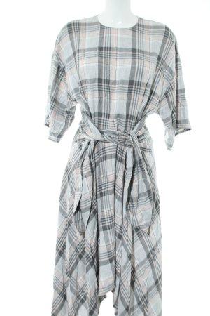 Orsay A-Linien Kleid hellgrau-creme Karomuster Casual-Look