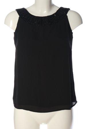 Orsay ärmellose Bluse schwarz Elegant