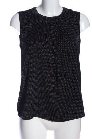 Orsay ärmellose Bluse schwarz-weiß Punktemuster Casual-Look