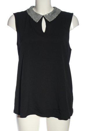 Orsay ärmellose Bluse schwarz-silberfarben Casual-Look