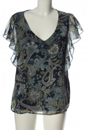 Orsay Sleeveless Blouse blue-white mixed pattern casual look