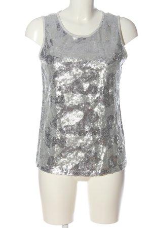 Orsay ärmellose Bluse hellgrau-silberfarben Casual-Look
