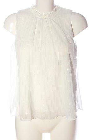 Orsay Sleeveless Blouse white striped pattern elegant