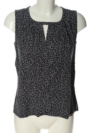 Orsay ärmellose Bluse schwarz-weiß Allover-Druck Casual-Look