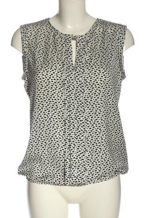 Orsay ärmellose Bluse weiß-schwarz Allover-Druck Elegant