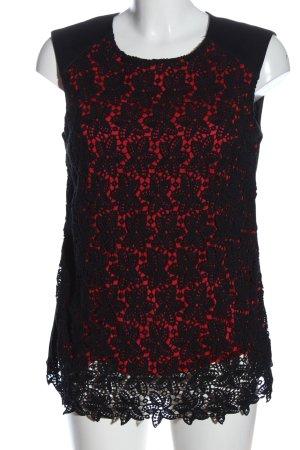 Orsay Kanten topje zwart-rood klassieke stijl