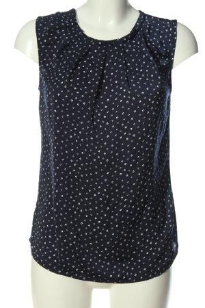Orsay ärmellose Bluse blau-weiß Allover-Druck Casual-Look