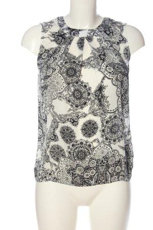 Orsay ärmellose Bluse weiß-schwarz Mustermix Casual-Look