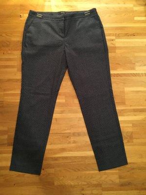 ORSAY Anzughose, Straight Fit, Blau mit weißen Pünktchen, Neu (42)