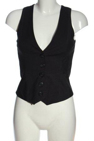 Orsay Chaleco de vestir negro-blanco puro estampado a rayas look casual