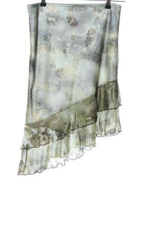 Orsay Jupe asymétrique kaki-gris clair motif graphique style décontracté