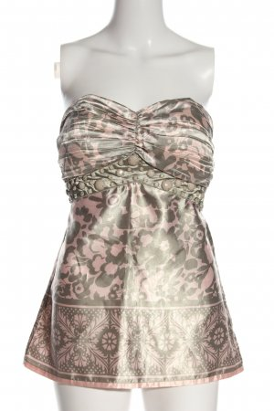 Orsay Top z dekoltem typu bandeau jasnoszary-różowy Na całej powierzchni